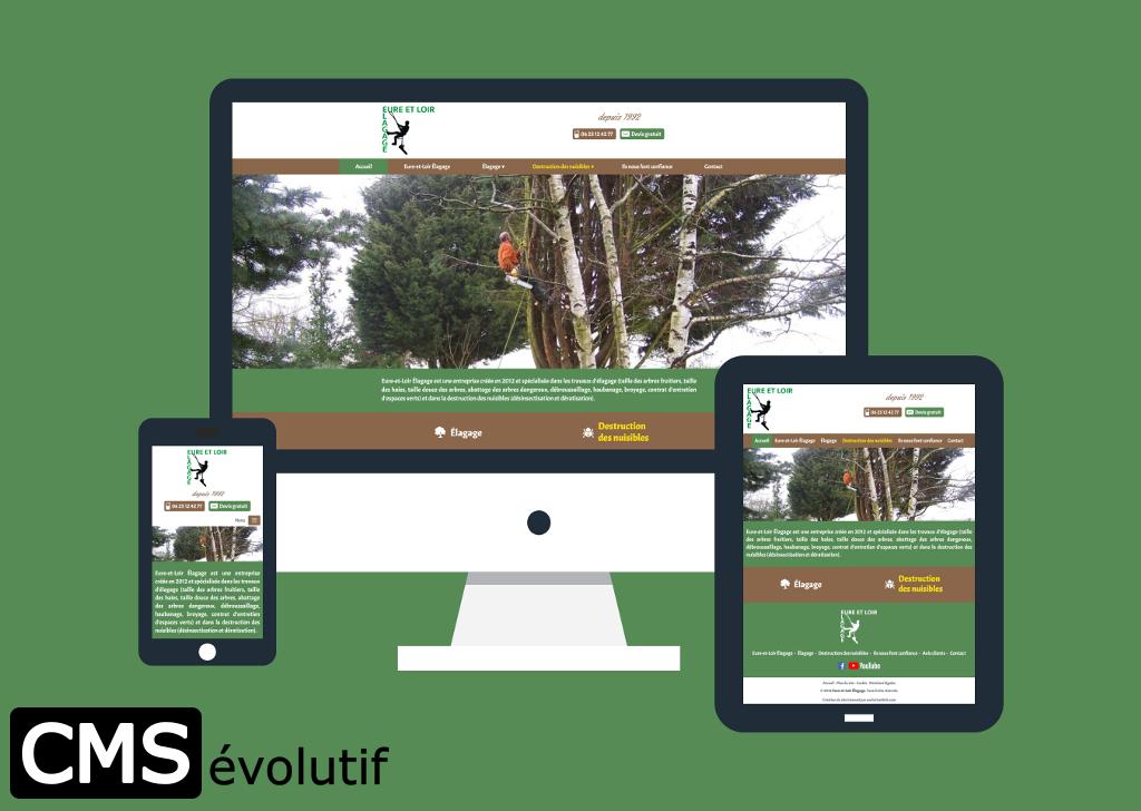 Eure-et-Loir Élagage, nouveau site internet utilisant le CMSévolutif pour la gestion de son contenu