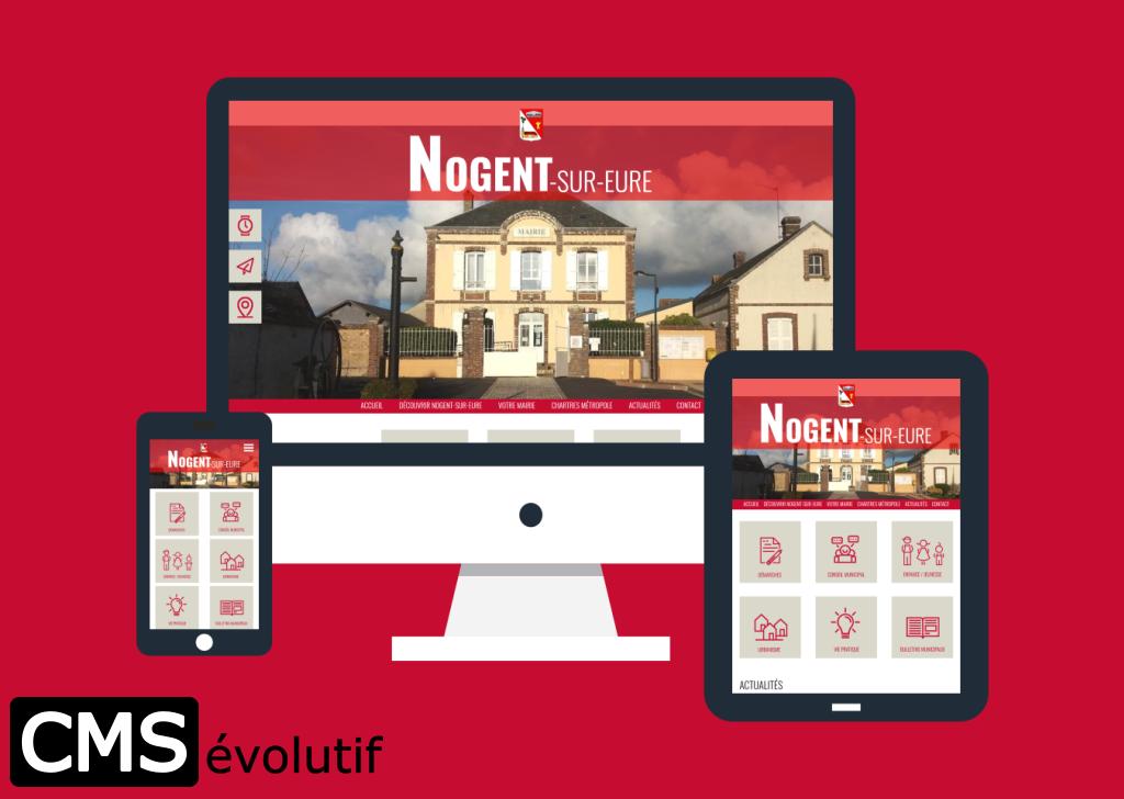 Nogent-sur-Eure, nouveau site internet utilisant le CMSévolutif pour la gestion de son contenu