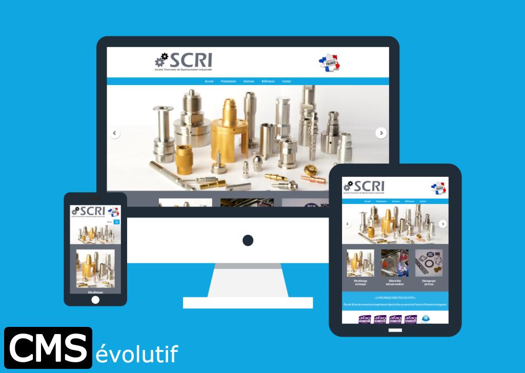 SCRI, nouveau site internet utilisant le CMSévolutif pour la gestion de son contenu